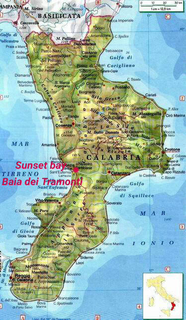 Cartina Calabria Mare.Calabria Bellissima
